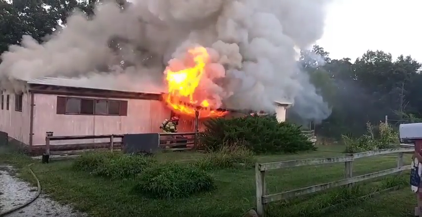 VIDEO:  Structure Fire On Bluegill Circle